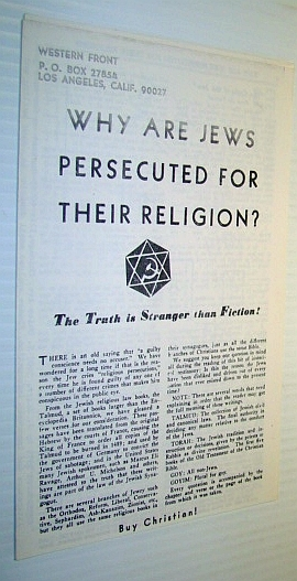 how were the jews persecuted by