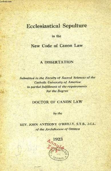 Dissertation canon feudal law wiki