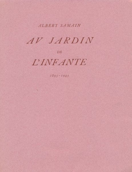 Illustr moderne marelibri for Au jardin de l infante albert samain